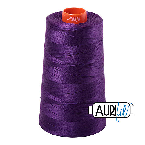 Aurifil Mako 50wt Cotton 5900 m (6452 yd.) cone - 2545 Medium Purple<br><font color = red>Please note, that this colour in this size is not available in-store, but will be ordered for you.</font>