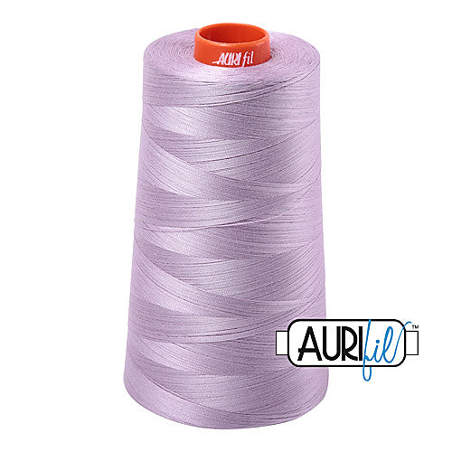 Aurifil Mako 50wt Cotton 5900 m (6452 yd.) cone - 2562 Lilac<br><font color = red>Please note, that this colour in this size is not available in-store, but will be ordered for you.</font>