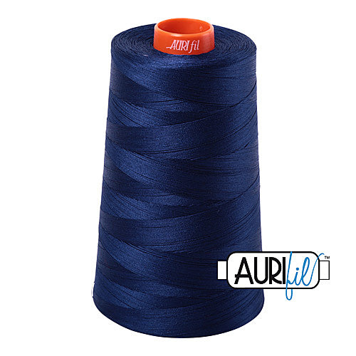 Aurifil Mako 50wt Cotton 5900 m (6452 yd.) cone - 2784 Dark Navy<br><font color = red>Please note, that this colour in this size is not available in-store, but will be ordered for you.</font>