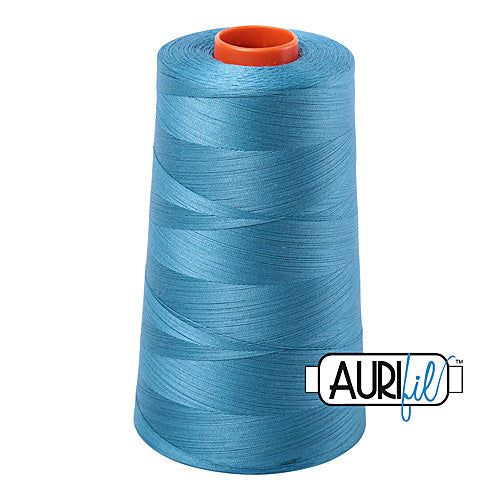 Aurifil Mako 50wt Cotton 5900 m (6452 yd.) cone - 2815 Teal<br><font color = red>Please note, that this colour in this size is not available in-store, but will be ordered for you.</font>
