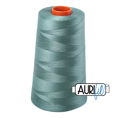Aurifil Mako 50wt Cotton 5900 m (6452 yd.) cone - 2850 Medium Juniper<br><font color = red>Please note, that this colour in this size is not available in-store, but will be ordered for you.</font>