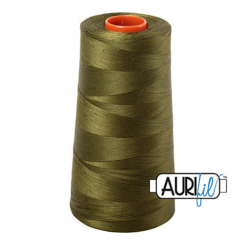 Aurifil Mako 50wt Cotton 5900 m (6452 yd.) cone - 2887 Dark Olive<br><font color = red>Please note, that this colour in this size is not available in-store, but will be ordered for you.</font>