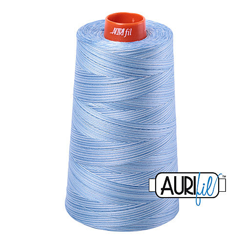 Aurifil Mako 50wt Cotton 5900 m (6452 yd.) cone - 3770 Stone Washed Denim<br><font color = red>Please note, that this colour in this size is not available in-store, but will be ordered for you.</font>