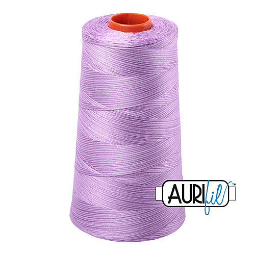Aurifil Mako 50wt Cotton 5900 m (6452 yd.) cone - 3840 French Lilac<br><font color = red>Please note, that this colour in this size is not available in-store, but will be ordered for you.</font>