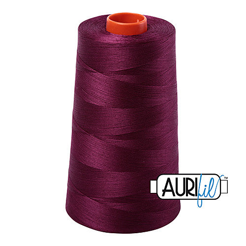 Aurifil Mako 50wt Cotton 5900 m (6452 yd.) cone - 4030 Plum<br><font color = red>Please note, that this colour in this size is not available in-store, but will be ordered for you.</font>