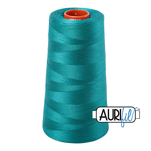 Aurifil Mako 50wt Cotton 5900 m (6452 yd.) cone - 4093 Jade<br><font color = red>Please note, that this colour in this size is not available in-store, but will be ordered for you.</font>