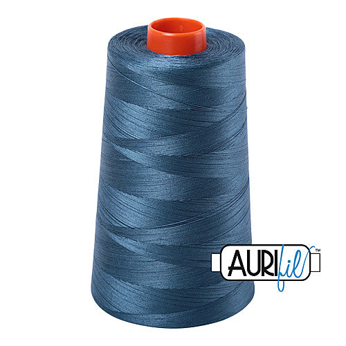 Aurifil Mako 50wt Cotton 5900 m (6452 yd.) cone - 4644 Smoke Blue<br><font color = red>Please note, that this colour in this size is not available in-store, but will be ordered for you.</font>