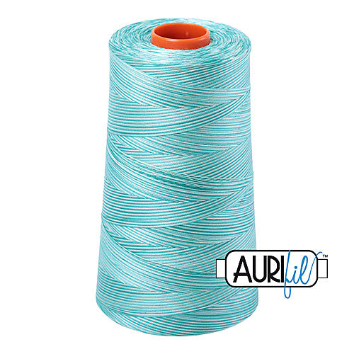Aurifil Mako 50wt Cotton 5900 m (6452 yd.) cone - 4654 Turquoise Foam<br><font color = red>Please note, that this colour in this size is not available in-store, but will be ordered for you.</font>