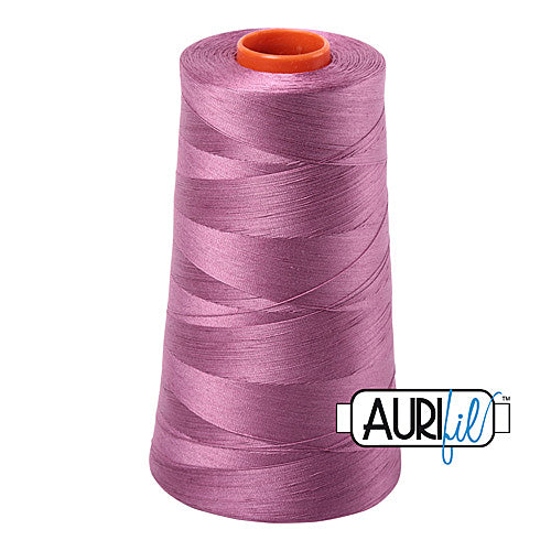 Aurifil Mako 50wt Cotton 5900 m (6452 yd.) cone - 5003 Wine<br><font color = red>Please note, that this colour in this size is not available in-store, but will be ordered for you.</font>