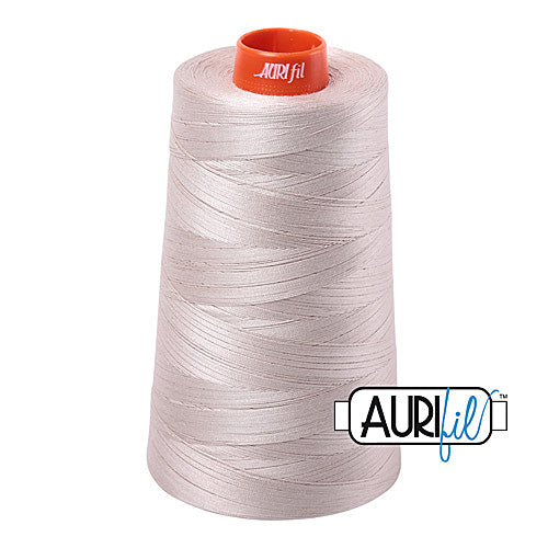 Aurifil Mako 50wt Cotton 5900 m (6452 yd.) cone - 6711 Pewter<br><font color = red>Please note, that this colour in this size is not available in-store, but will be ordered for you.</font>