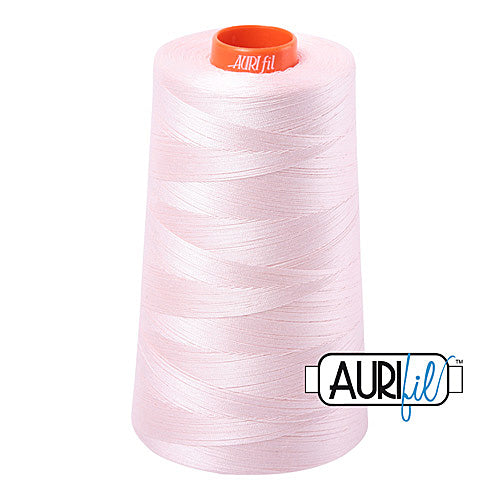 Aurifil Mako 50wt Cotton 5900 m (6452 yd.) cone - 6723 Fairy Floss<br><font color = red>Please note, that this colour in this size is not available in-store, but will be ordered for you.</font>