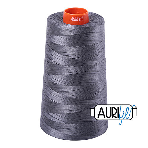 Aurifil Mako 50wt Cotton 5900 m (6452 yd.) cone - 6736 Jedi<br><font color = red>Please note, that this colour in this size is not available in-store, but will be ordered for you.</font>