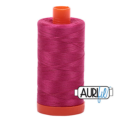 Aurifil Mako 50wt Cotton 1300 m (1422 yd.) spool - 1100 Red Plum<br>