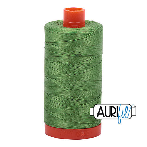 Aurifil Mako 50wt Cotton 1300 m (1422 yd.) spool - 1114 Grass Green<br>