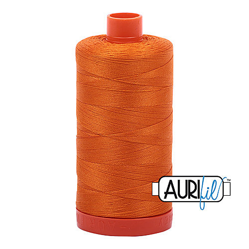 Aurifil Mako 50wt Cotton 1300 m (1422 yd.) spool - 1133 Bright Orange<br>