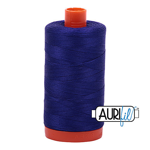 Aurifil Mako 50wt Cotton 1300 m (1422 yd.) spool - 1200 Blue Violet<br>