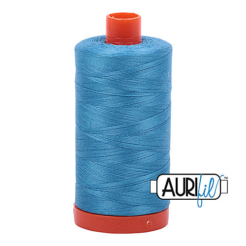 Aurifil Mako 50wt Cotton 1300 m (1422 yd.) spool - 1320 Bright Teal<br>