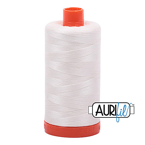 Aurifil Mako 50wt Cotton 1300 m (1422 yd.) spool - 2026 Chalk<br>