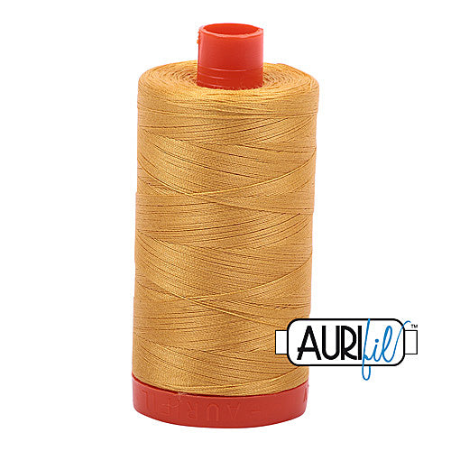 Aurifil Mako 50wt Cotton 1300 m (1422 yd.) spool - 2132 Tarnished Gold<br>