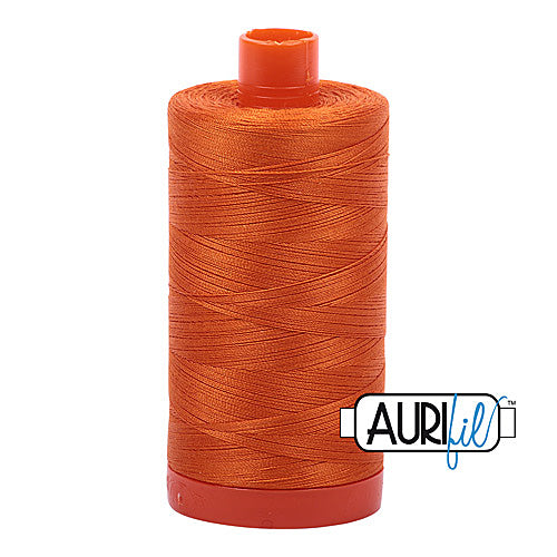 Aurifil Mako 50wt Cotton 1300 m (1422 yd.) spool - 2150 Pumpkin<br>