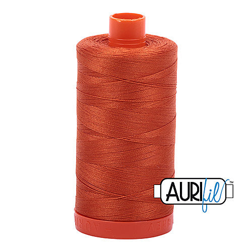 Aurifil Mako 50wt Cotton 1300 m (1422 yd.) spool - 2240 Rusty Orange<br>