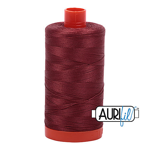 Aurifil Mako 50wt Cotton 1300 m (1422 yd.) spool - 2345 Raisin<br>