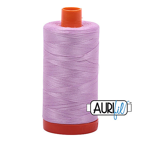 Aurifil Mako 50wt Cotton 1300 m (1422 yd.) spool - 2515 Light Orchid<br>