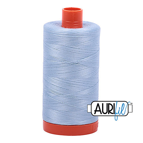 Aurifil Mako 50wt Cotton 1300 m (1422 yd.) spool - 2710 Light Robins Egg<br>