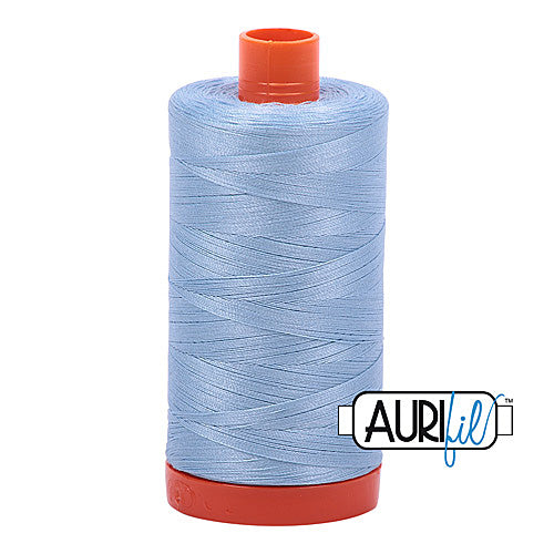Aurifil Mako 50wt Cotton 1300 m (1422 yd.) spool - 2715 Robins Egg<br>