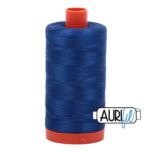 Aurifil Mako 50wt Cotton 1300 m (1422 yd.) spool - 2740 Dark Cobalt<br>