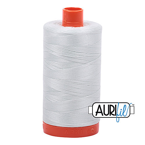 Aurifil Mako 50wt Cotton 1300 m (1422 yd.) spool - 2800 Mint Ice<br>