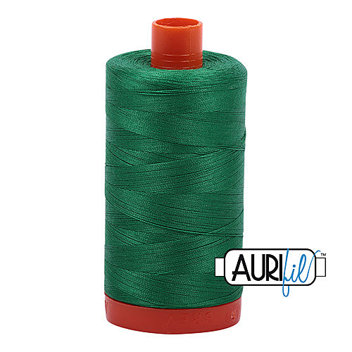 Aurifil Mako 50wt Cotton 1300 m (1422 yd.) spool - 2870 Green<br>