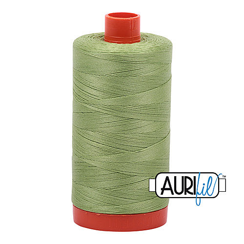 Aurifil Mako 50wt Cotton 1300 m (1422 yd.) spool - 2882 Light Fern<br>