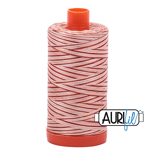 Aurifil Mako 50wt Cotton 1300 m (1422 yd.) spool - 4656 Cinnamon Sugar<br>
