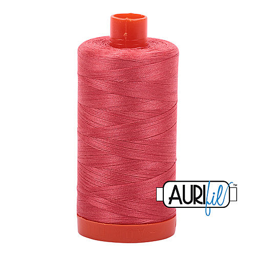 Aurifil Mako 50wt Cotton 1300 m (1422 yd.) spool - 5002 Medium Red<br>