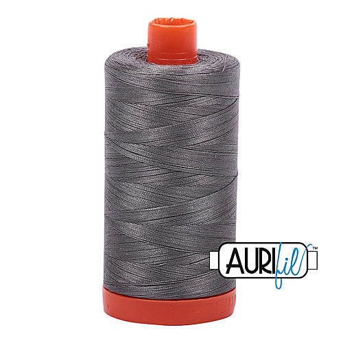 Aurifil Mako 50wt Cotton 1300 m (1422 yd.) spool - 5004 Grey Smoke