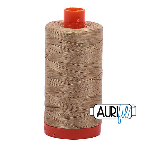 Aurifil Mako 50wt Cotton 1300 m (1422 yd.) spool - 5010 Blonde Beige<br>