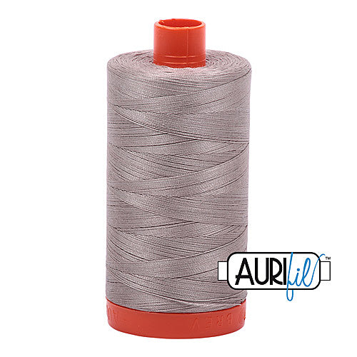 Aurifil Mako 50wt Cotton 1300 m (1422 yd.) spool - 6730 Steampunk<br>