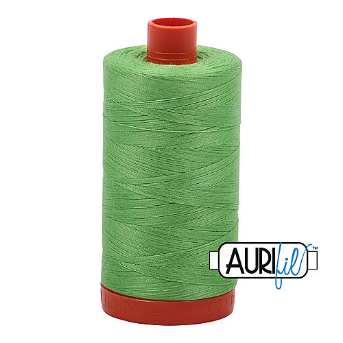 Aurifil Mako 50wt Cotton 1300 m (1422 yd.) spool - 6737 Shamrock Green<br>