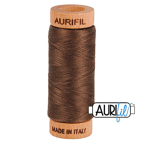 Aurifil Mako 80wt Cotton 274 m (300 yd.) spool - 1140 Bark