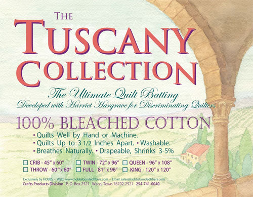 "Hobbs Tuscany Bleached Cotton - 120"" X 120"" King"
