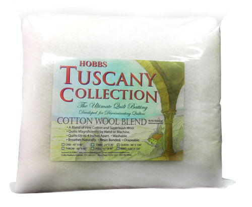 "Hobbs Tuscany Cotton Wool Blend - 72"" X 96"" Twin"