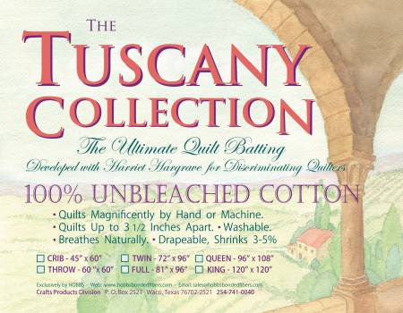 "Hobbs Tuscany Unbleached Cotton - 120"" X 120"" King"