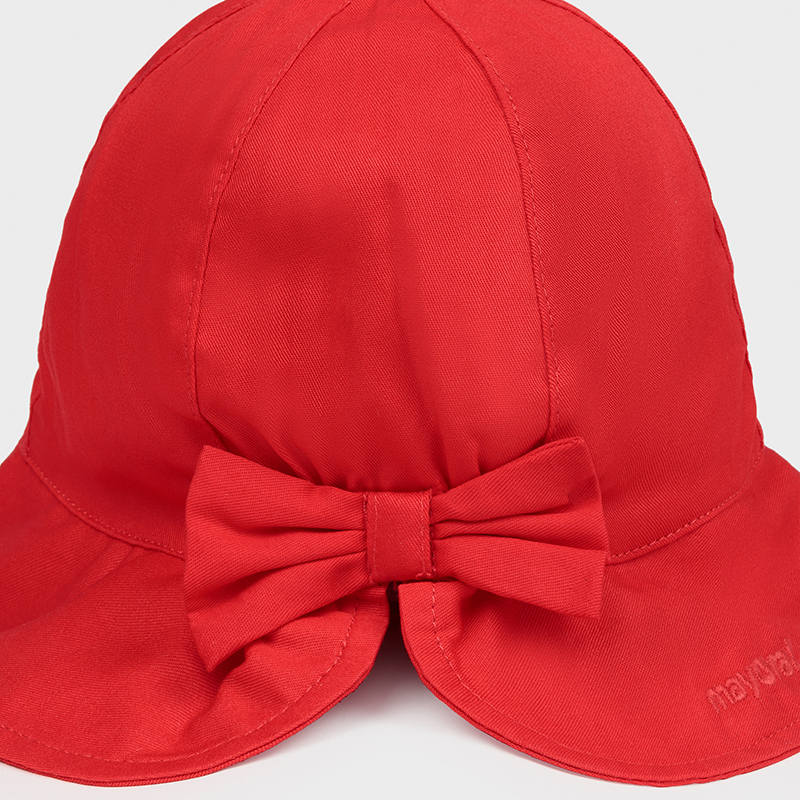 Mayoral 10017 RED COTTON SUN HAT
