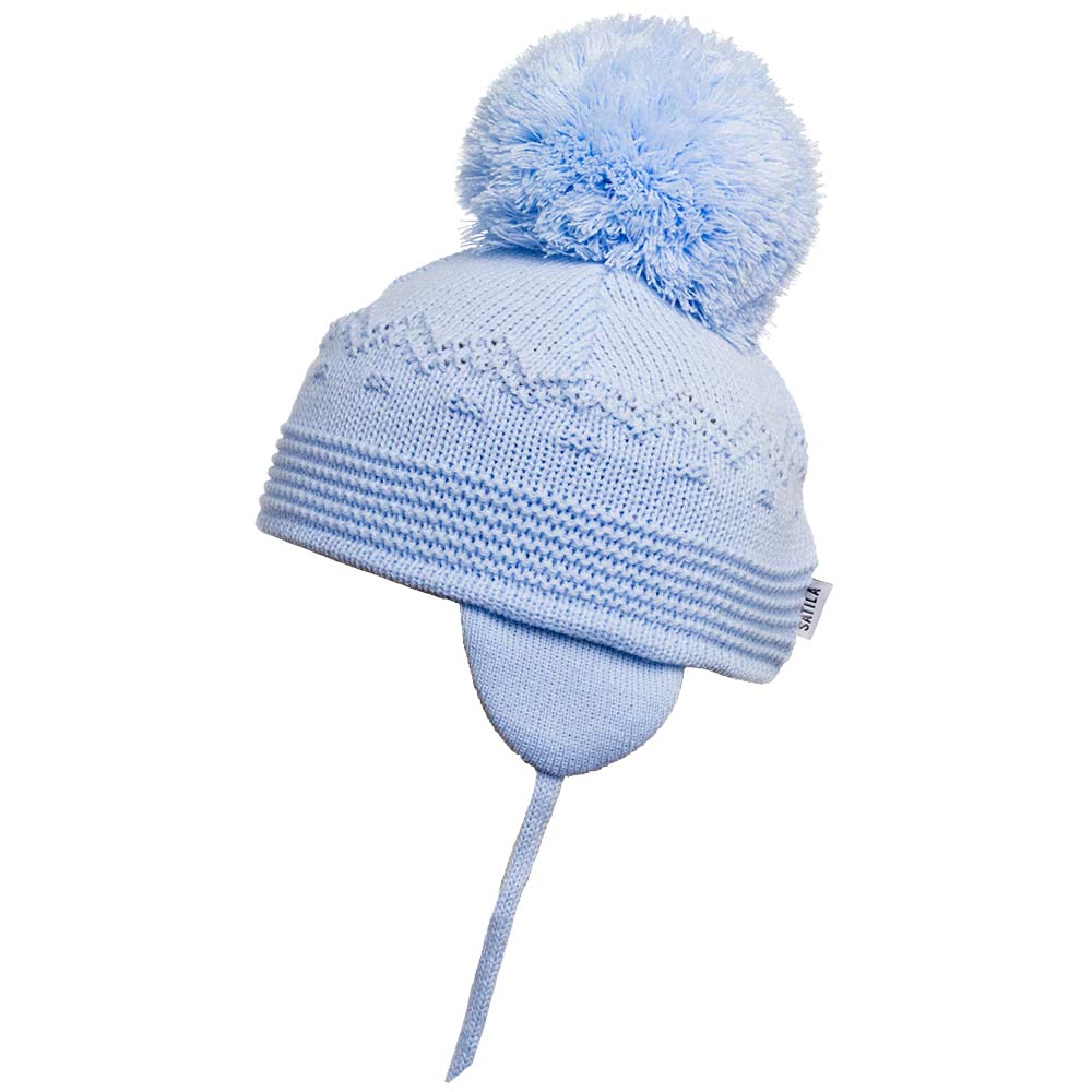 SATILA BELLE PALE BLUE POM POM HAT