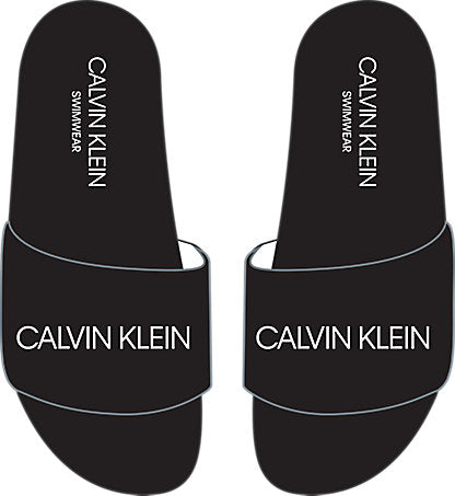 Calvin Klein BLACK LOGO SLIDERS