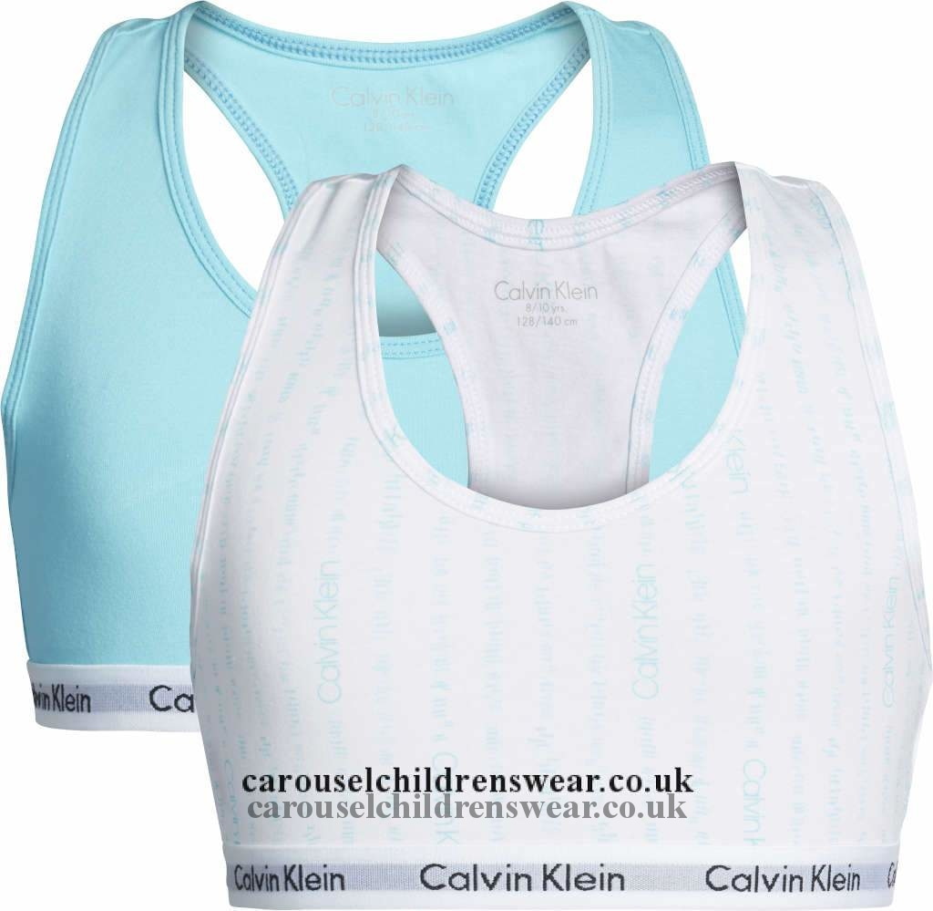 Calvin Klein G80G800235 417 Two Pack Girls Bralette Clothing