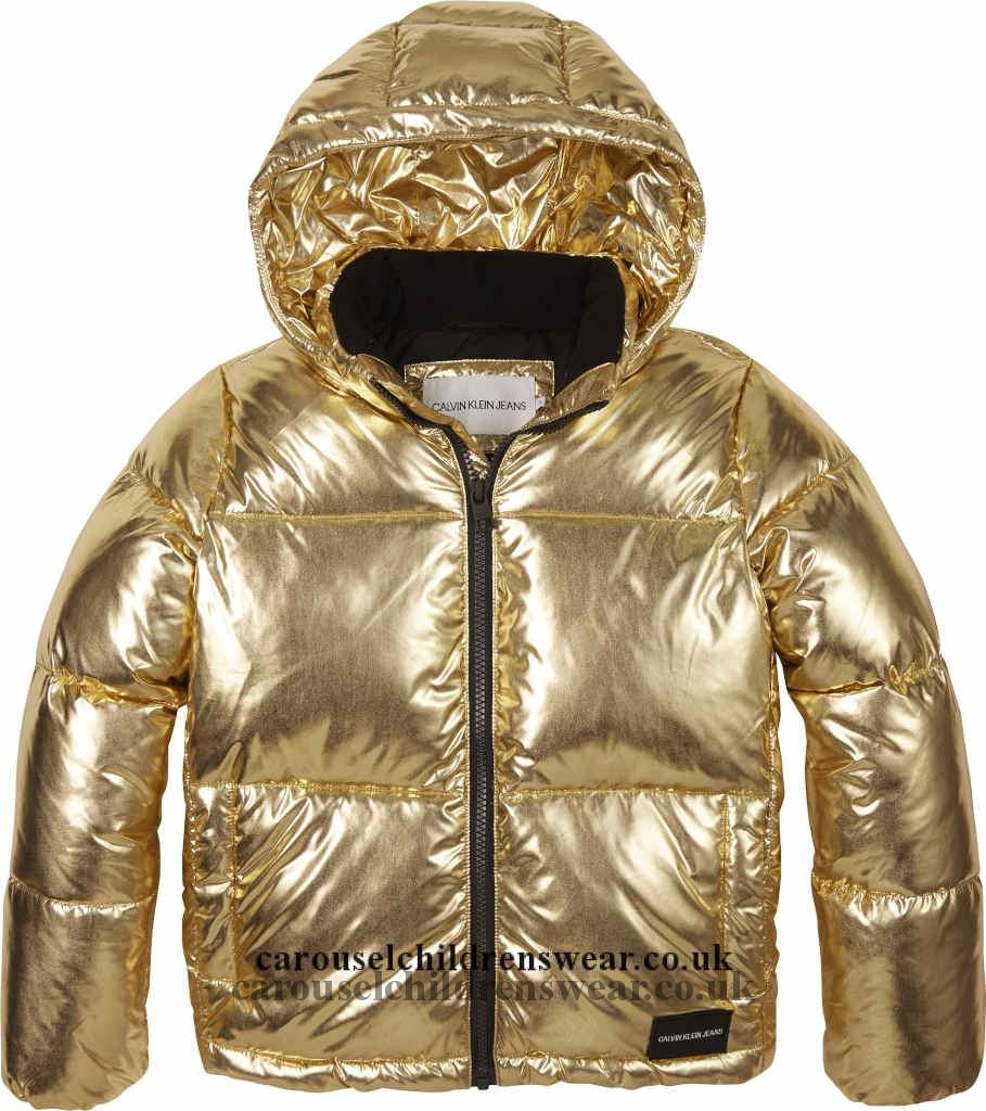 Calvin Klein Ig0Ig00279 705 Gold Puffer Jacket Clothing