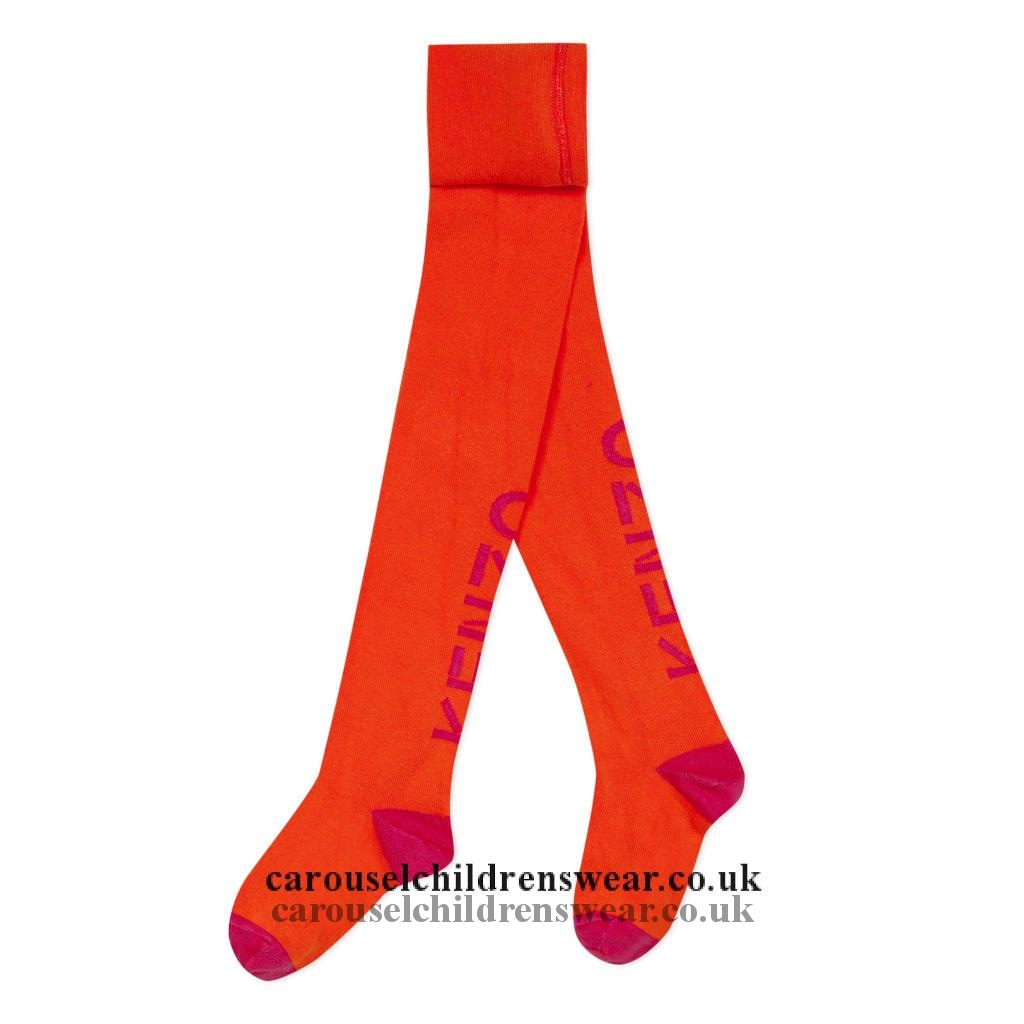 Kenzo Kr94008 76 Red And Orange Tight Accessories