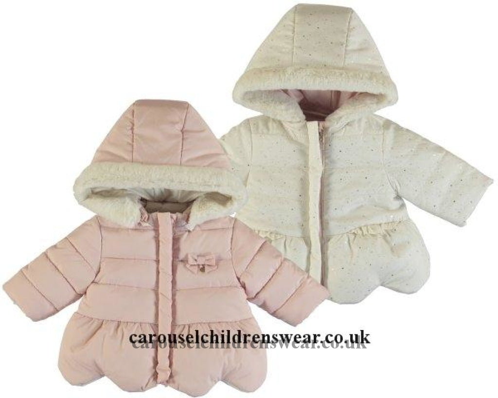 Mayoral 2460 019 Blush Reversible Coat Clothing